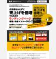 広告費をかえずに売上げを倍増するためのランディングページ構築・攻略セミナーDVD