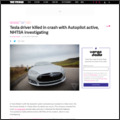 Tesla driver killed in crash with Autopilot active, NHTSA investigating | The Verge