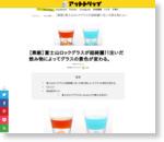 【素敵】富士山ロックグラスが超綺麗!!注いだ飲み物によってグラスの景色が変わる。