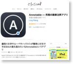 縁取り文字やルーペやハイライトが簡単に付与できるSkitch進化版みたいなAnnotableというアプリ