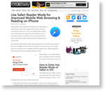 Use Safari Reader Mode for Improved Mobile Web Browsing & Reading on iPhone