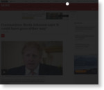 Coronavirus: Boris Johnson says 'it could have gone either way'