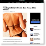 This Day In History: Florida Bans Thong Bikini (VIDEO) | HuffPost