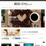 音楽関連サイトリンク集「MUSIC-STYLE」 サイトのキャプチャー画像