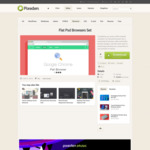 Flat Psd Browsers Set | Psd Web Elements | Pixeden
