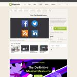 Psd Flat Social Icons | Social Icons | Pixeden