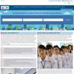 ベトナム人エンジニア送り出し機関 サイトのキャプチャー画像