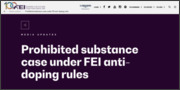 [04/17]Prohibited substance case under FEI anti-doping rules