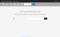 Test your website at different screen resolutions: Multi Screen Test