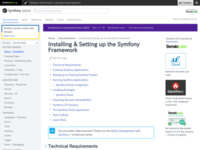 Requirements for Running Symfony (The Symfony Reference)