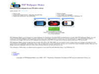 PSP Wallpaper Maker, create psp wallpaper by yourself, make your style wallpaper