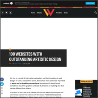 http://www.webdesignerdepot.com/2008/12/100-websites-with-outstanding-artistic-design/