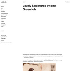 Lovely Sculptures by Irma Gruenholz