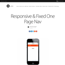 Responsive & Fixed One Page Nav