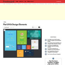 Flat UI Kit Design Elements