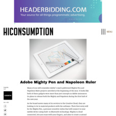 Adobe Mighty Pen and Napoleon Ruler