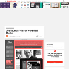 20 Beautiful Free Flat WordPress Theme