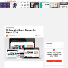10 Free WordPress Themes for March 2014
