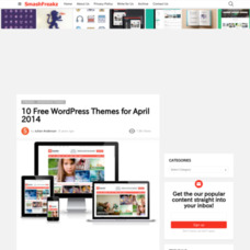 10 Free WordPress Themes for April 2014