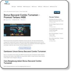 Bonus Baccarat Combo Turnamen – Promosi Terbaru W88