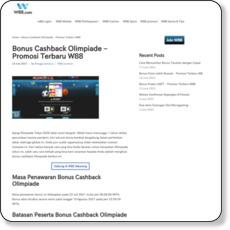 Bonus Cashback Olimpiade – Promosi Terbaru W88