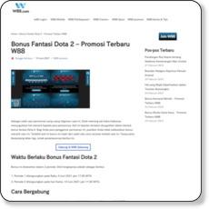 Bonus Fantasi Dota 2 – Promosi Terbaru W88