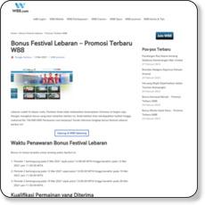 Bonus Festival Lebaran – Promosi Terbaru W88
