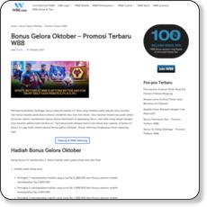 Bonus Gelora Oktober – Promosi Terbaru W88