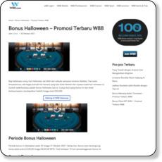 Bonus Halloween – Promosi Terbaru W88