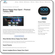 Bonus Happy Hour Sport – Promosi Terbaru W88