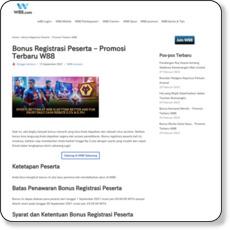 Bonus Registrasi Peserta – Promosi Terbaru W88