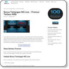 Bonus Tantangan MG Live – Promosi Terbaru W88