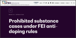 [08/15]Prohibited substance cases under FEI anti-doping rules