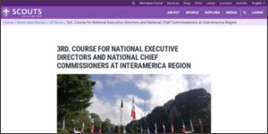 [09/30]3rd. Course for National Executive Directors and National Chief Commissioners at Interamerica Region