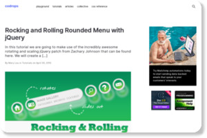 http://tympanus.net/codrops/2010/04/30/rocking-and-rolling-rounded-menu-with-jquery/