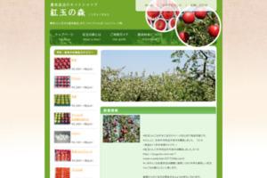 青森のりんご紅玉を産地直送 紅玉の森 サイトのキャプチャー画像