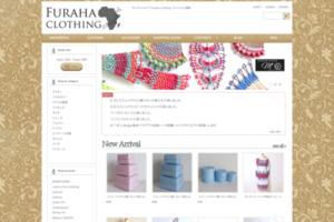 セレクトショップ furaha clothing サイトのキャプチャー画像