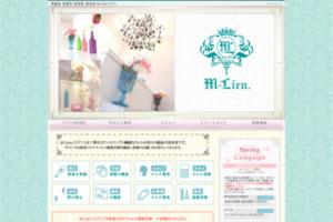 銀座の美容室 M-Lien.(リアン) サイトのキャプチャー画像