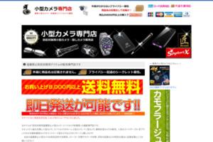 盗撮厳禁小型カメラ販売店 サイトのキャプチャー画像