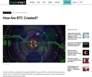 How Are BTC Created? | iTech Post