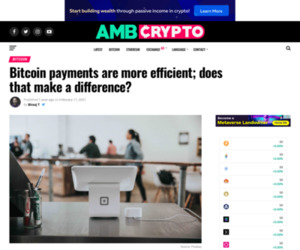 Bitcoin payments are more efficient; does it make a difference?