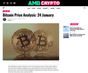 Bitcoin Price Analysis: 24 January - AMBCrypto