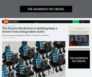 The bitcoin blockchain is helping keep a botnet from being taken down | Ars Technica