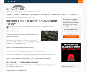 Bitcoin's Bull Market: 3 Signs Point to Buy - Banyan Hill Publishing
