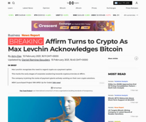 Affirm Turns to Crypto As Max Levchin Acknowledges Bitcoin - BeInCrypto