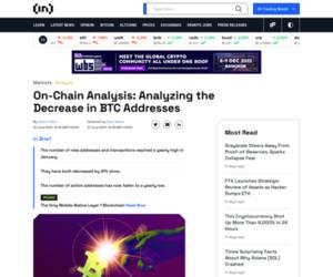 On-Chain Analysis: Analyzing the Decrease in BTC Addresses - BeInCrypto