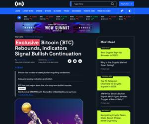 Bitcoin (BTC) Rebounds, Indicators Signal Bullish Continuation - BeInCrypto
