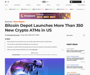 Bitcoin Depot Launches More Than 350 New Crypto ATMs in US - BeInCrypto