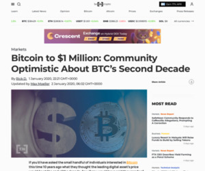Bitcoin to $1 Million: Community Optimistic About BTC's Second Decade – BeInCrypto