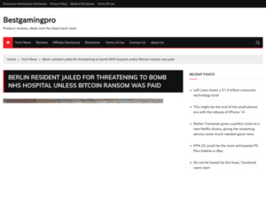 Berlin resident jailed for threatening to bomb NHS hospital unless Bitcoin ransom was paid – Bestgamingpro